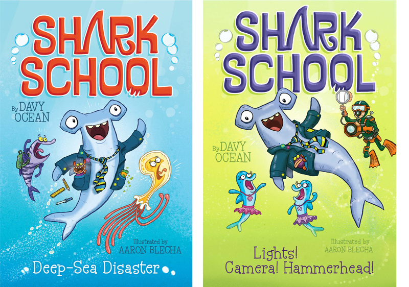 Book Covers For School Brisbane : Shark school aaron blecha illustration