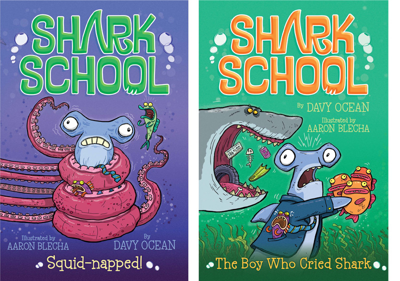 shark school aaron blecha illustration